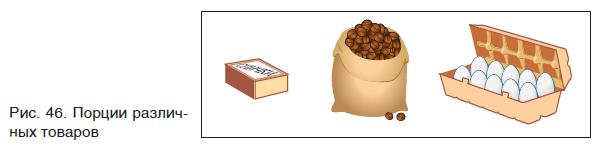 Порции различных товаров